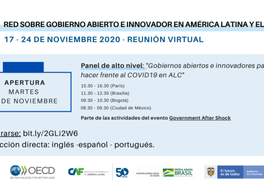 Open and innovative governments for the recovery of COVID19 in Latin America and the Caribbean