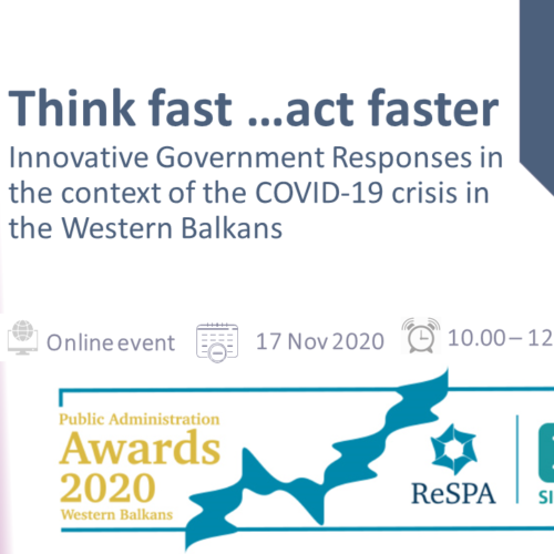 Think Fast – Act Faster: Innovative Responses of the Western Balkans Governments in the context of the COVID-19 crisis